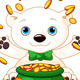 Polar Bear Juggles Gold Coins - GraphicRiver Item for Sale