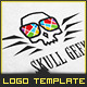 Geek Skull - Logo Template - GraphicRiver Item for Sale