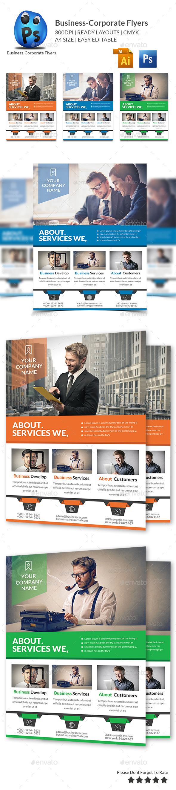 GraphicRiver Corporate Business Flyer Template 10230931