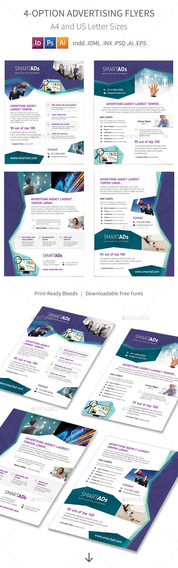 GraphicRiver Advertising Flyers 4 Options 10230952