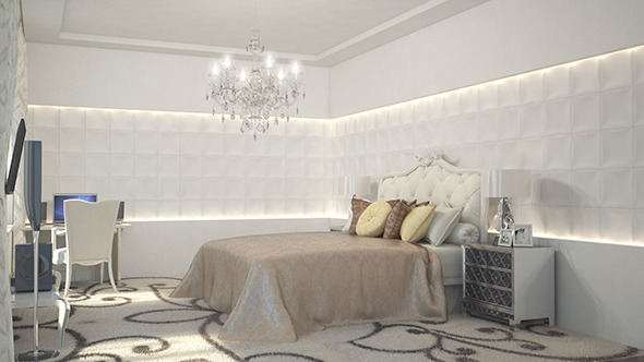3DOcean Bedroom Interior 10231522