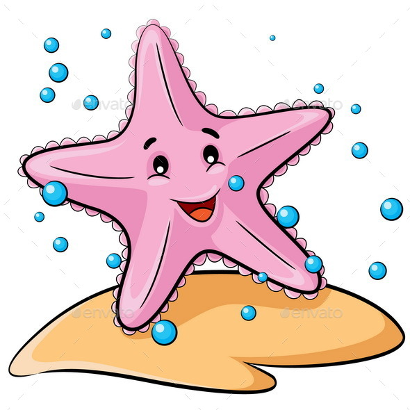 GraphicRiver Starfish Cartoon 10231613