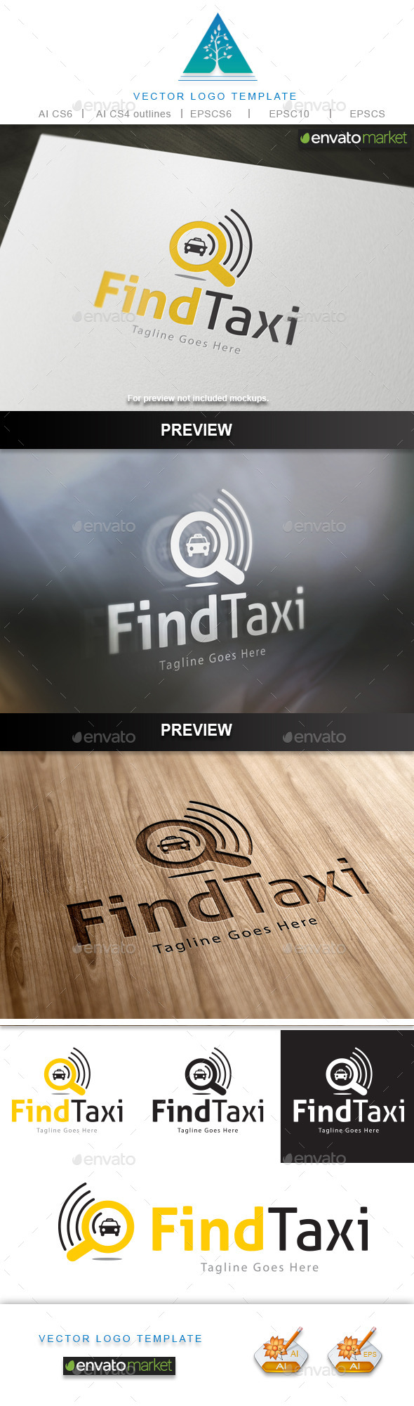 GraphicRiver Find Taxi Logo 10231667