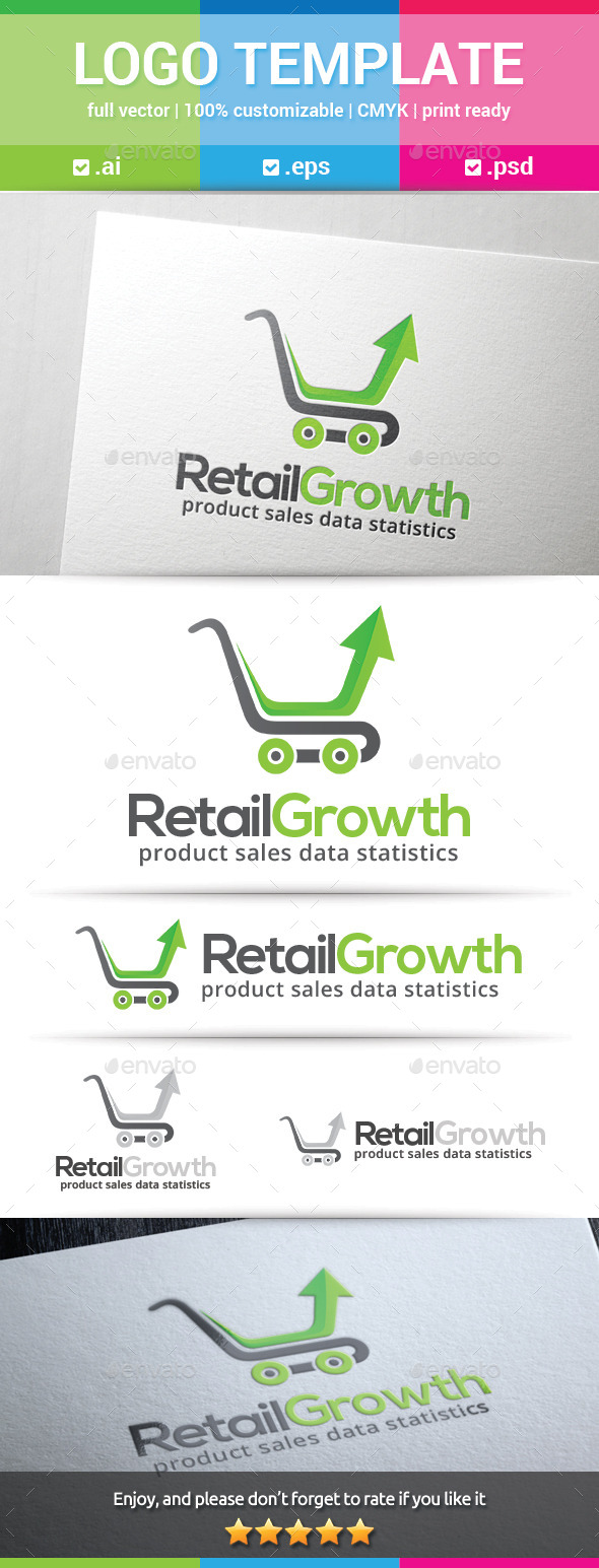 GraphicRiver Retail Growth Logo 10231691
