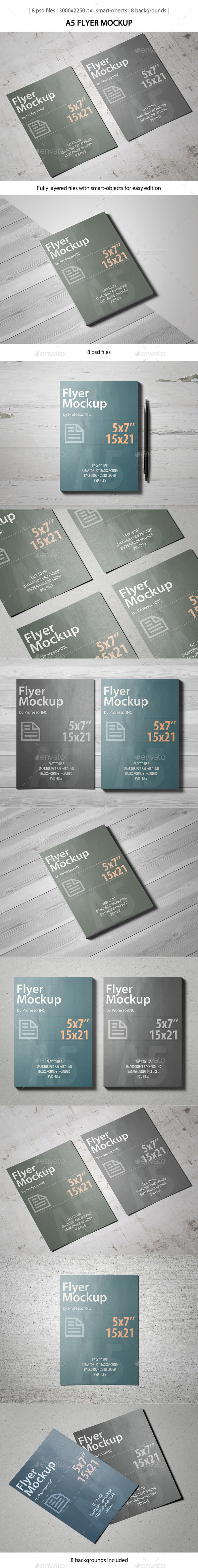 GraphicRiver A5 Flyer Mockup 10231731