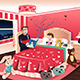 Father Reading a Bedtime Story to His Daughter - GraphicRiver Item for Sale