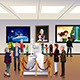 People Inside a Museum - GraphicRiver Item for Sale