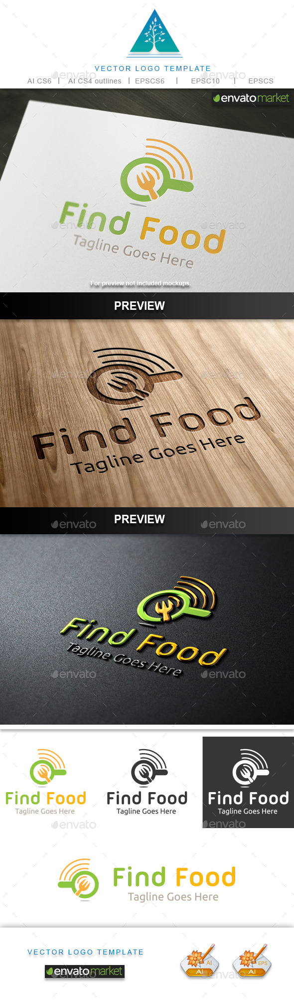 GraphicRiver Find Food Logo 2 10231827