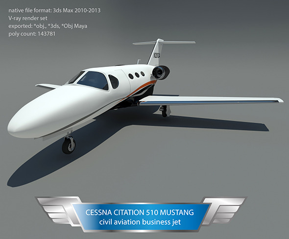 3DOcean Cessna citation 510 mustang 10231833