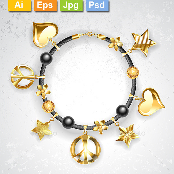 GraphicRiver Bracelet with Symbols 10231877