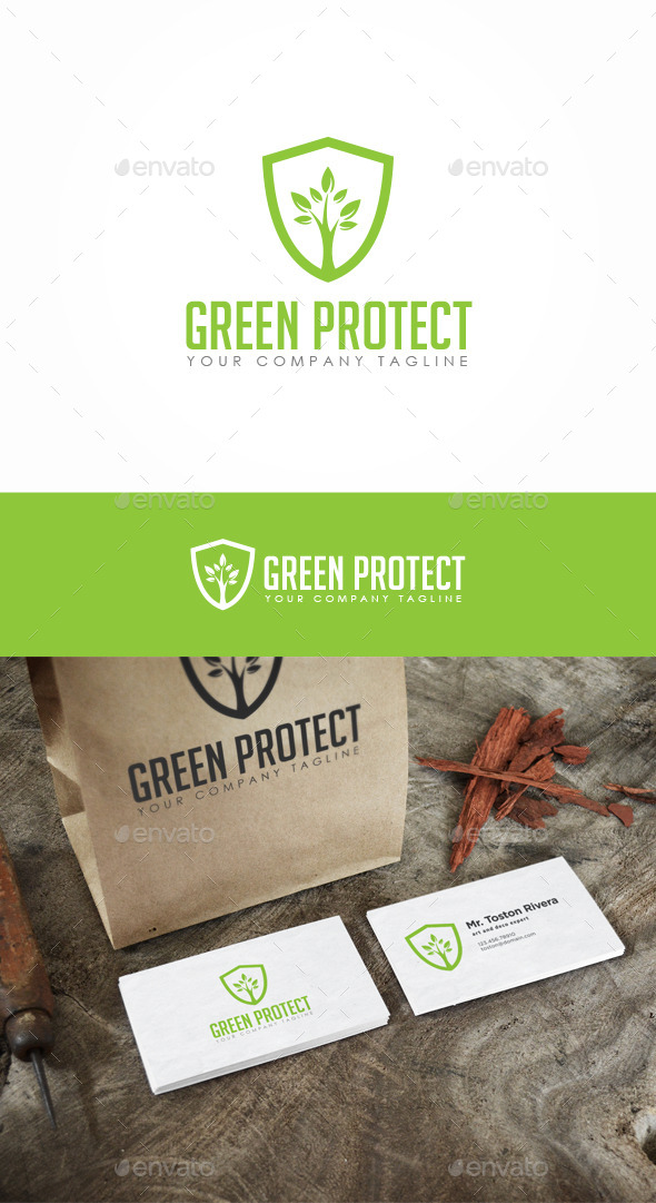 GraphicRiver Green Protect Logo 10231912