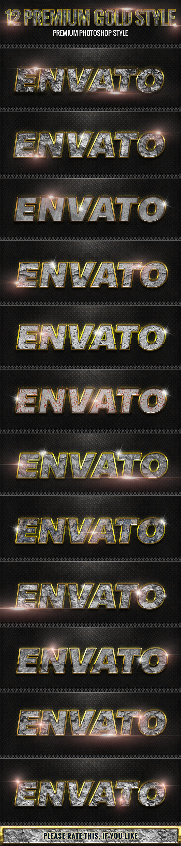 GraphicRiver 12 New Rock With Gold Style 10232022