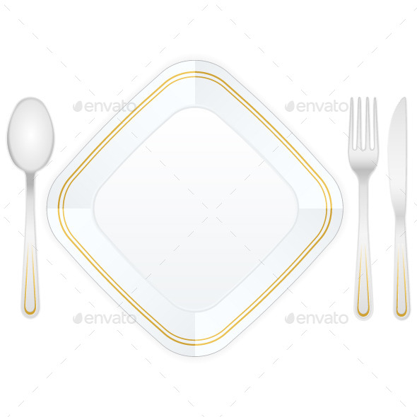GraphicRiver Cutlery and Plate 10232031