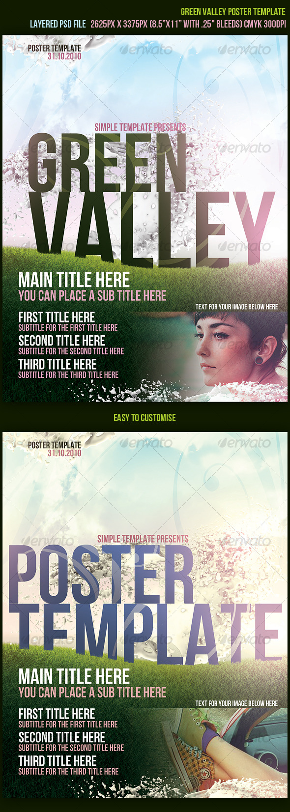 GraphicRiver Green Valley Poster Template 129087