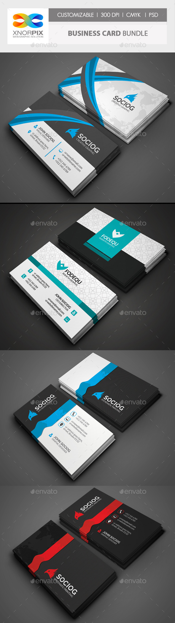 GraphicRiver Business Card Bundle 3 in 1-Vol 47 10232236