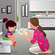 Girl Doing Potty Training with Her Mother Watching - GraphicRiver Item for Sale