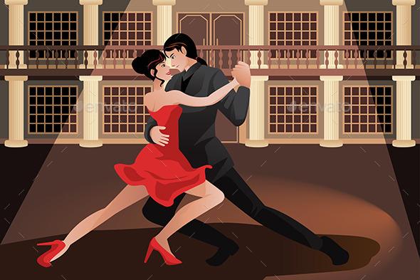 GraphicRiver Couple Dancing Tango 10232342
