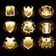 Set of Golden Shields - GraphicRiver Item for Sale