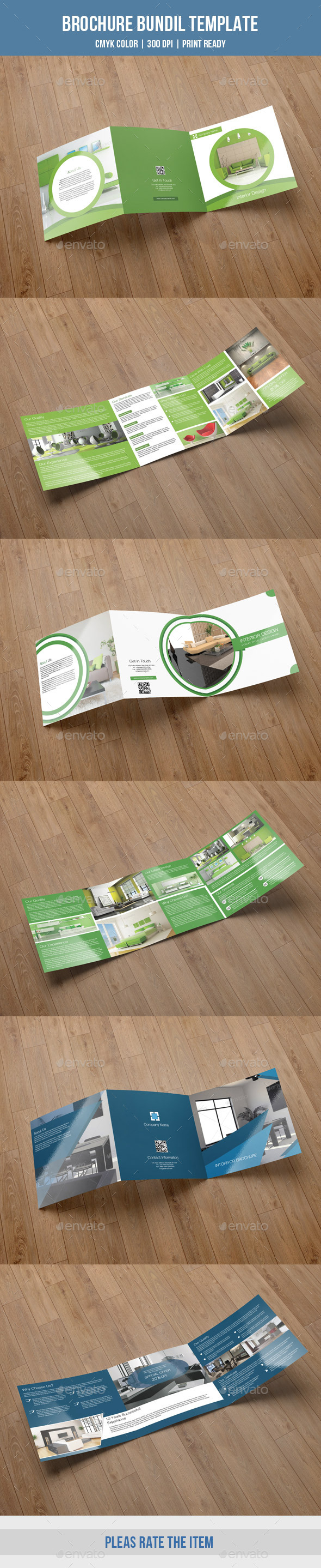 GraphicRiver Interior Square Trifold Bundle-V08 10232517