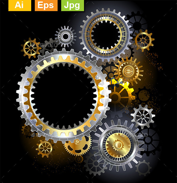 GraphicRiver Steel Gears 10233306