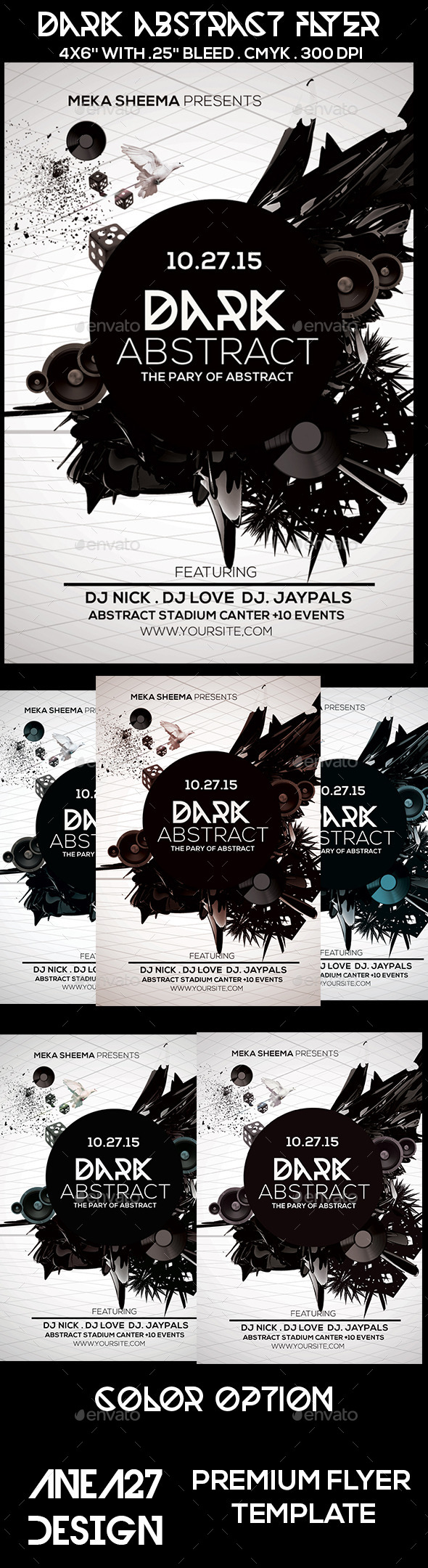 GraphicRiver Dark Abstract Flyer 10235323