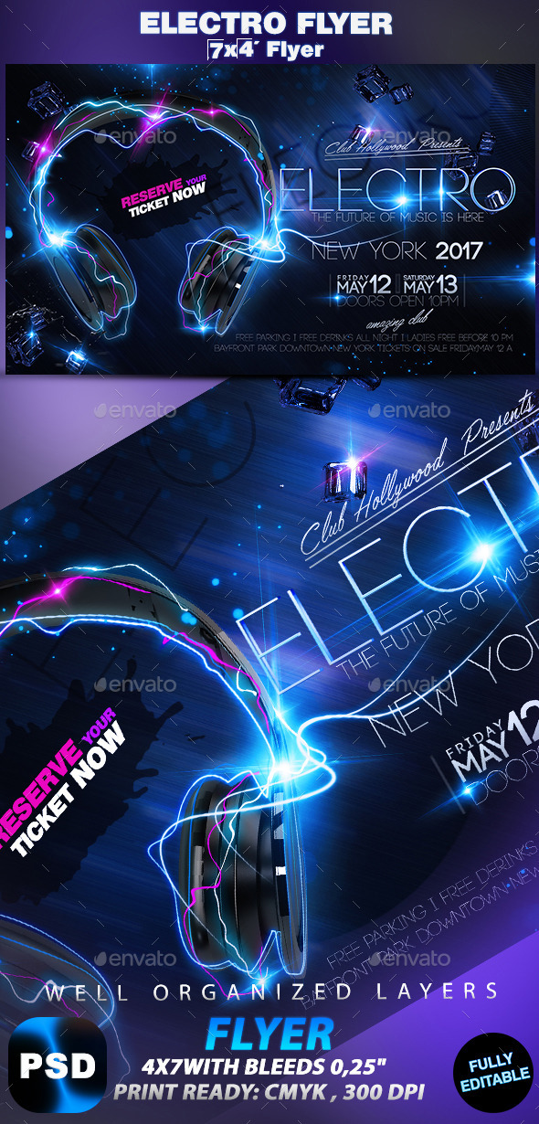 GraphicRiver Electro Flyer 10235481