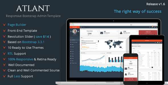 Atlant - Bootstrap Admin Template with Frontend Download