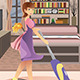 Happy Woman Vacuuming Carpet - GraphicRiver Item for Sale