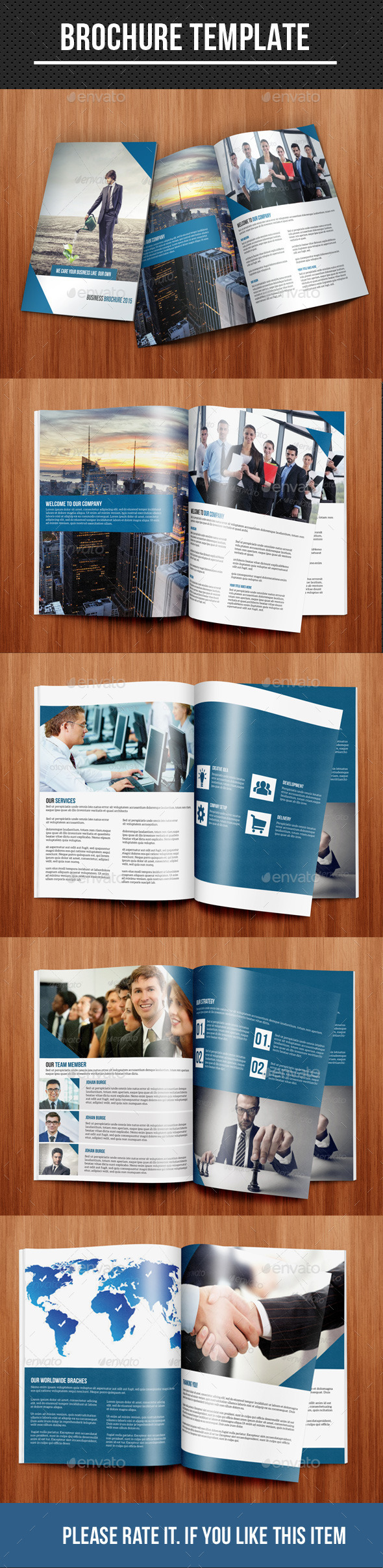 GraphicRiver Corporate Bi-Fold Brochure 10236161