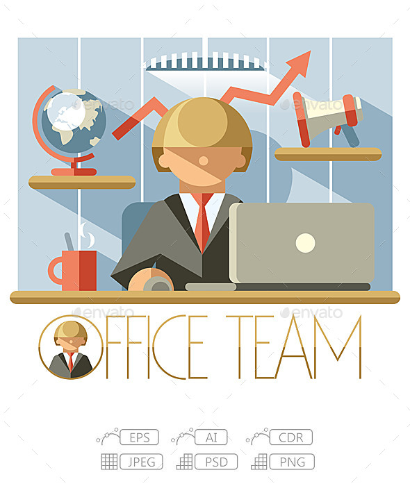 GraphicRiver Flat Office Team Director 10236240