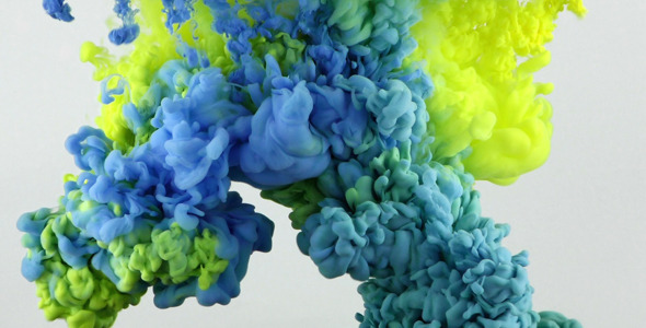 Colorful Paint Ink Drops Splash in Underwater 27