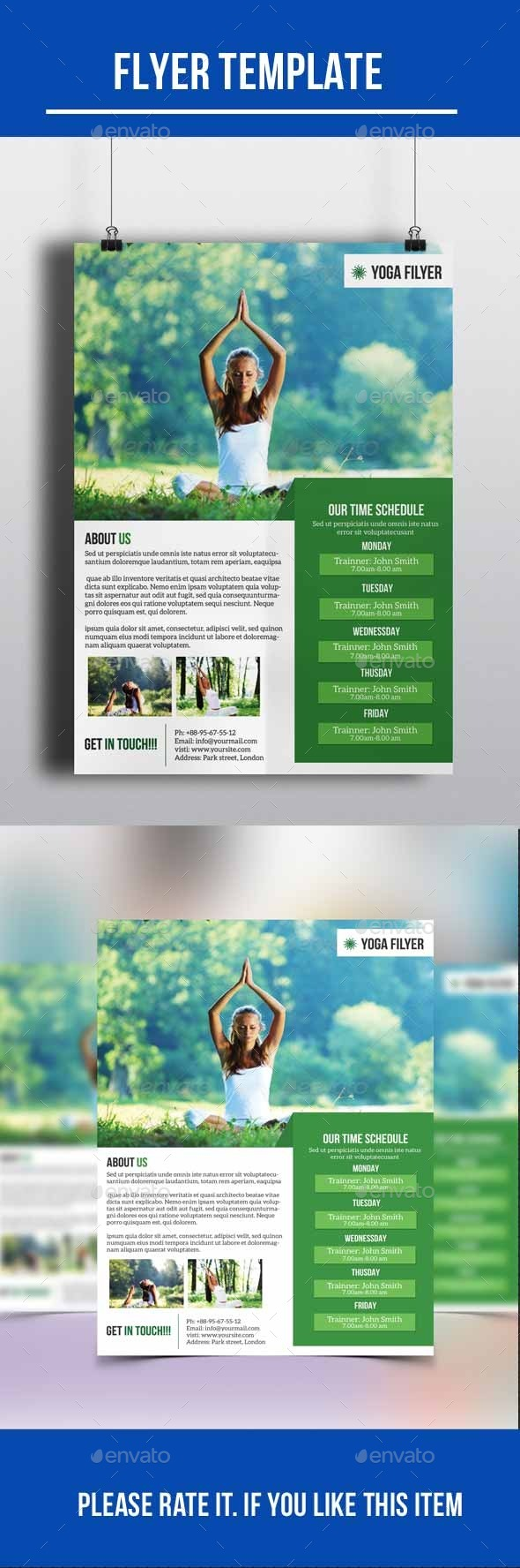 GraphicRiver Yoga Flyer 10236306