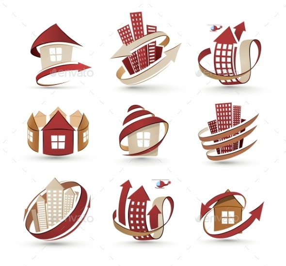 GraphicRiver Building Icons 10236317