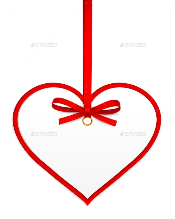 GraphicRiver Heart with Red Bow 10236412