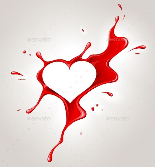 GraphicRiver Red Spray Paint and Heart 10236422