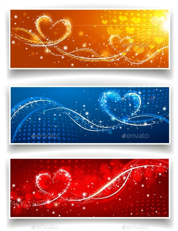 GraphicRiver Banners on Valentine s Day 10236437