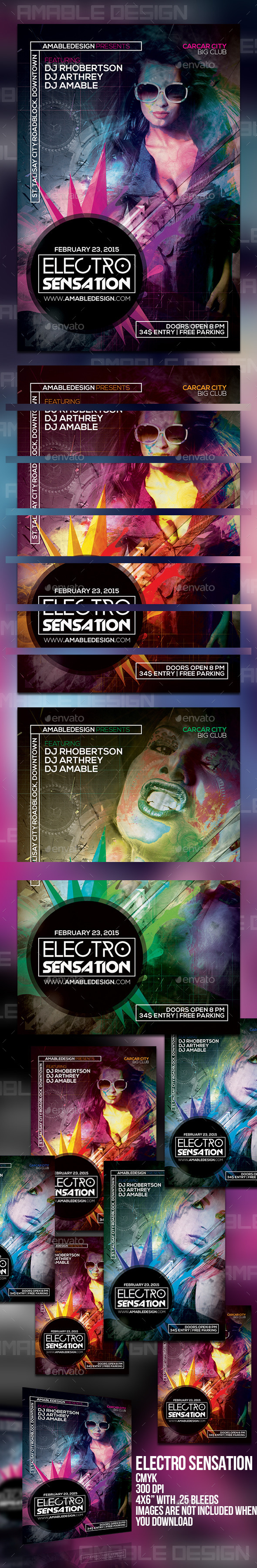GraphicRiver Electro Sensation Flyer 10190573
