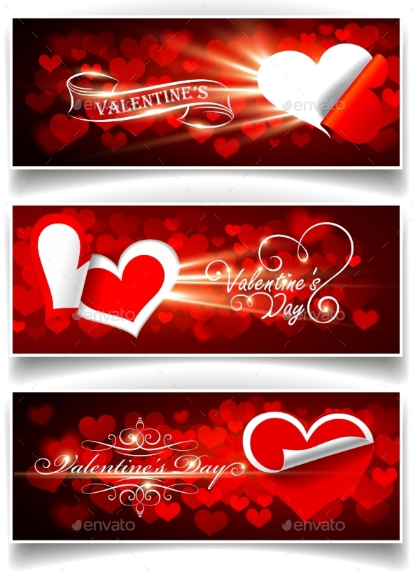 Banners on Valentine s Day