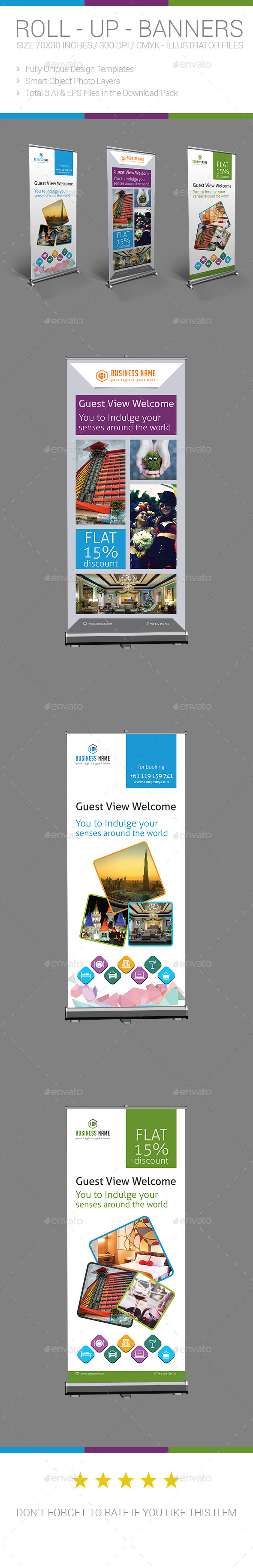 GraphicRiver Hotel Travel Roll-up Banner 10236775