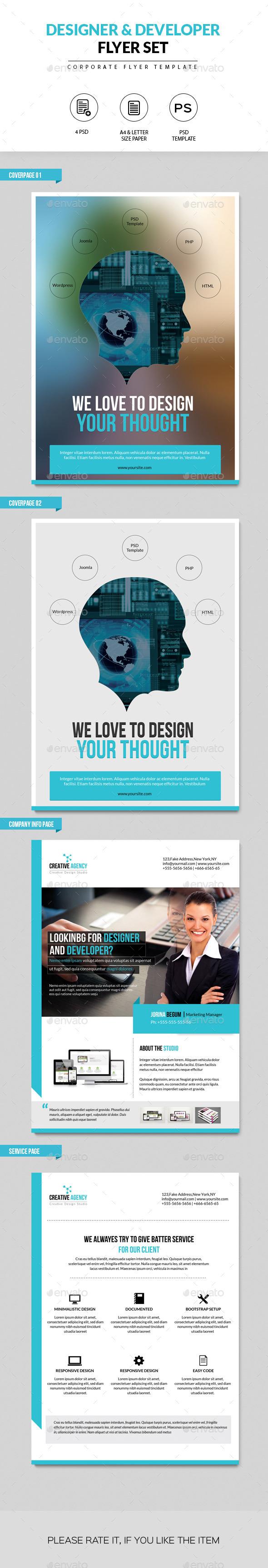 GraphicRiver Flyer Set for Designer and Developer 10190802