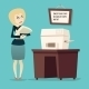 Retro Vintage Cartoon Businesswoman Character - GraphicRiver Item for Sale