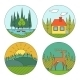 Outdoor Life Symbols - GraphicRiver Item for Sale