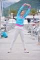 woman jogging in marina - PhotoDune Item for Sale