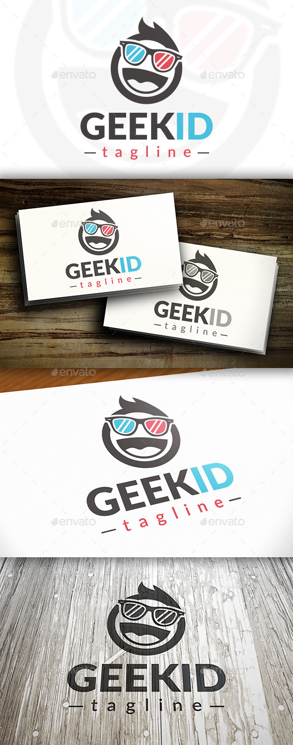 GraphicRiver Geek Kid Logo Template 10237587