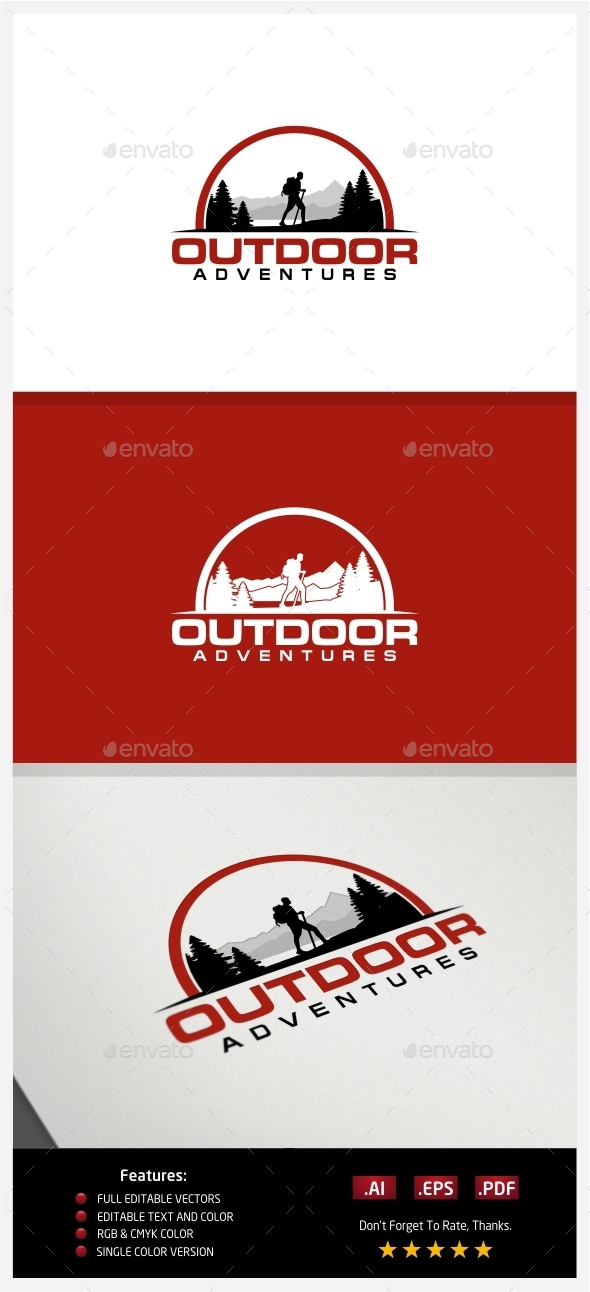 GraphicRiver Hiking Adventures Logo 10238088
