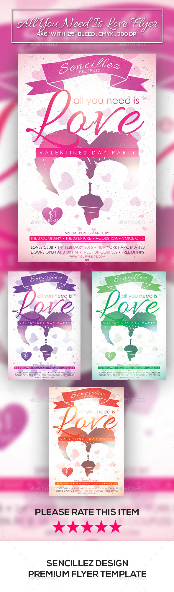 GraphicRiver All You Need Is Love Flyer 10238475
