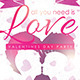 All You Need Is Love Flyer - GraphicRiver Item for Sale