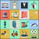 Sewing Equipment and Needlework Flat Icons  - GraphicRiver Item for Sale