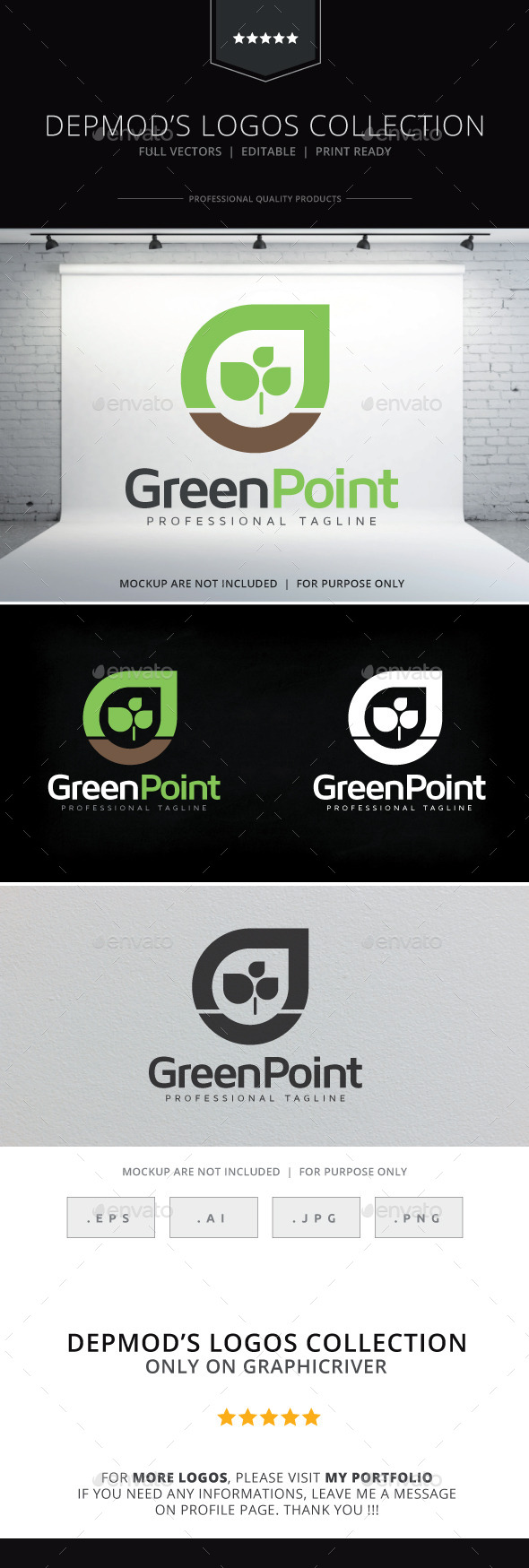 GraphicRiver Green Point Logo 10239610