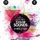 Electro Color Sounds Party Flyer - GraphicRiver Item for Sale
